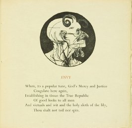 """Envy,"" in the book The Seven Deadly Sins by Anthony Hecht (Northampton, Mass: Gehenna Press, 1958)"