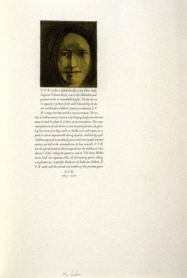 E. V. B., twenty-seventh plate in the book, Icones librorum artifices ([Leeds, Mass.]: Gehenna Press, 1988)