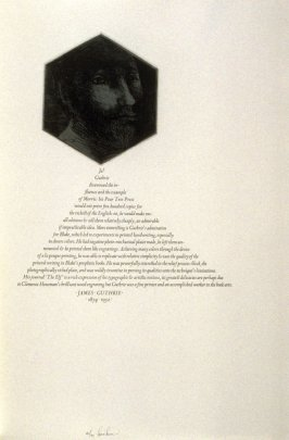 James Guthrie, twenty-eighth plate in the book, Icones librorum artifices ([Leeds, Mass.]: Gehenna Press, 1988)