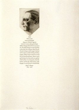 Dard Hunter, twenty-ninth plate in the book, Icones librorum artifices ([Leeds, Mass.]: Gehenna Press, 1988)