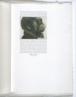 Albert Flamen, eleventh plate in the book, Icones librorum artifices ([Leeds, Mass.]: Gehenna Press, 1988)