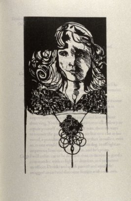 """The Accused Desdemona, first full page image for act 2, scene 3, woodcut interleaved opposite page beginning """"Outran my purpose: and I return'd the rather:..."""" in the book Othello, a play by William Shakespeare (Northampton MA:Gehenna Press,1973)"""