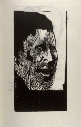 """Othello, full page image for act 3, scene 3, woodcut interleaved opposite page beginning """"My speech should fall into such vile success."""" in the book Othello, a play by William Shakespeare (Northampton MA:Gehenna Press,1973)"""