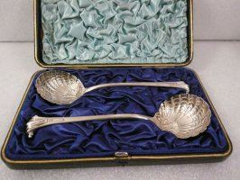 Pair of sugar spoons