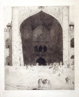 Entrance To The Friday Mosque At Delhi
