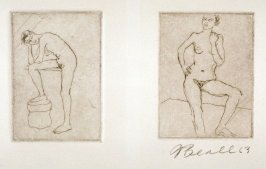 Two Studies Of A Female Nude