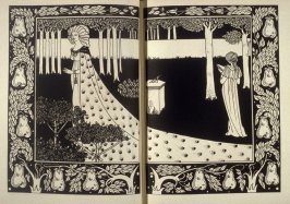 La Beale Isoud at Joyous Gard, in book 10 on double pages following page 354 in the book, Morte Darthur: The Birth, Life and Acts of King Arthur, of His Noble Knights … (New York: E. P. Dutton, 1909) The Birth, Life and Acts of King Arthur, of His Noble K