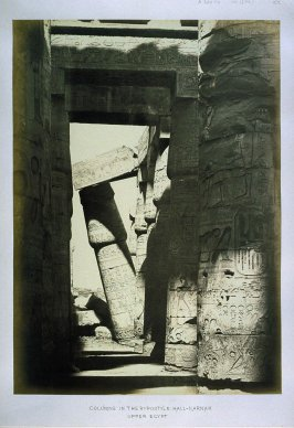 Columns in the Hypostile Hall-Karnak, Upper Egypt