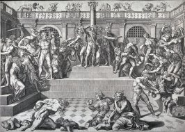 The Massacre of the Innocents, after Marco Dente da Ravenna's engraving of a design by Baccio Bandinelli