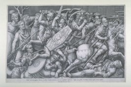 Roman Soldiers In Combat Against The Daceans