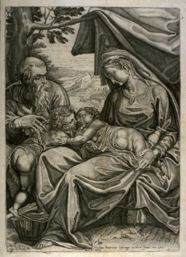 Holy Family with the Infant John the Baptist, after the painting by Girolamo Muziano