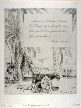 Birth Announcement Of Jacqueline, Daughter Of Mr. And Mme. Maurice Le Garrec