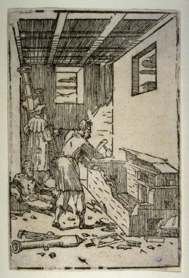 The Foundryman (Figure of Vulcan in the Metal Foundry), third plate from a series of ten scenes from the Practice of Alchemy