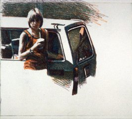Working Proof *7 for Untitled (woman with car)