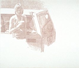 Working Proof 4 for Untitled (woman with car)