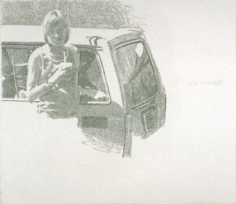 Working Proof 3 for Untitled (woman with car)