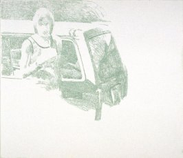 Working Proof 2 for Untitled (woman with car)