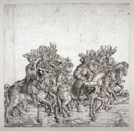 Imperial Drummers and Trumpeters from: Plates To The Triumph Of Maximilian I