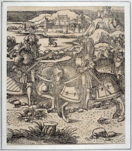 Theuerdank Wounds an Enemy with the Sword, from Theuerdank (Allegorical work commissioned by Emperor Maximilian I )