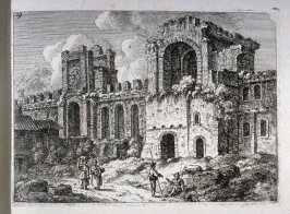 Untitled ( architectural ruins), plate no. 19 in the book, Etchings after Nature (Bath, 1821)