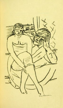 IIlustration at Scene 6, between pgs. 70 and 71, in the book Der Mensch ist kein Haustier (Man is not a Domesticated Animal) by Stephan Lackner (Paris: Editions Cosmopolites, 1937)