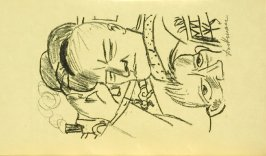 IIlustration at Scene 10, between pgs. 110 and 111, in the book Der Mensch ist kein Haustier (Man is not a Domesticated Animal) by Stephan Lackner (Paris: Editions Cosmopolites, 1937)