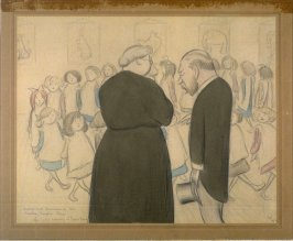 Duties and Diversions of This Sweeter, Simpler Reign/ King George Inspecting an Infant School