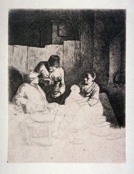 The Mother Seated in an Inn