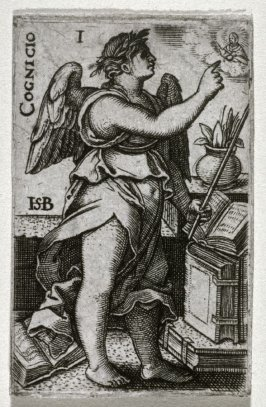 Cognitio, from a set of the Cardinal Virtues