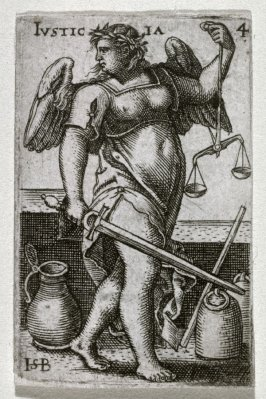 Justice, from a set of the Cardinal Virtues