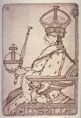 """""""The She-Emperor"""" from Illustrations For The Fisherman And His Wife."""