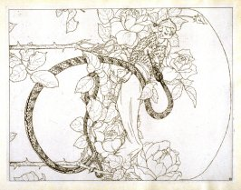 untitled [serpent], plate on p. 23 in the book Zadig (Berlin: Pan-Presse, Paul Cassirer, 1912)