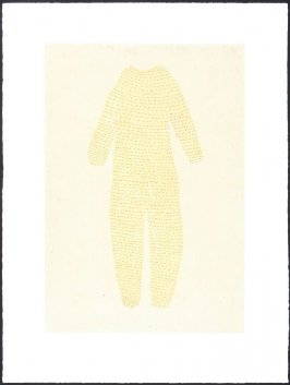 Untitled 2000.003 (Yellow Suit and Red Stitches)