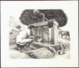 "Grinding Sugar Cane from ""Mexican People"" portfolio"
