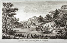 Veduta sul Fiume Arno dalla parte di Grumaggio (View of the River Arno at Grumaggio), plate 15 from the series Vedute della Toscana (Views of Tuscany)