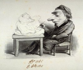 Caricature of Barye, the sculptor (1796 - 1875)