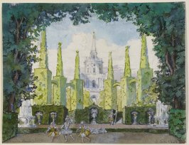 Le Pavillon d'Armide: Backdrop for Armide's Garden (Dream Scene) Scene II