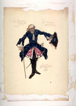 La Pavillon d'Armide: Costume for the Old Marquis, Scene III