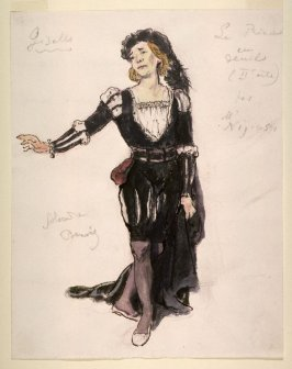Giselle: costume sketch of the prince in mourning, Act II