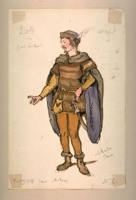 Giselle: costume for Wilfrid, Act I