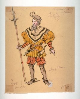Giselle: Costume for a Nobleman at the hunt