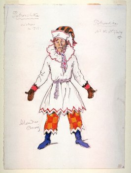 Costume for Petrouchka for Petrouchka, Diaghilev's Ballets Russes
