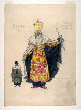 Costume for the magician for Petrouchka, Diaghilev's Ballets Russes