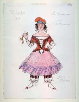 Costume for the ballerina for Petrouchka, Diaghilev's Ballets Russes