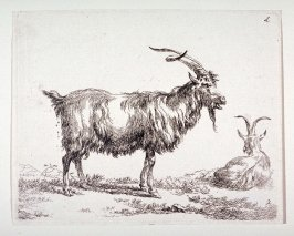 (#2 from) La cahier a l'homme (set of 6 goats)