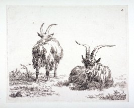 (#3 from) La cahier a l'homme (set of 6 goats)