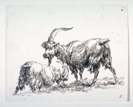 (#5 from) La cahier a l'homme (set of 6 goats)