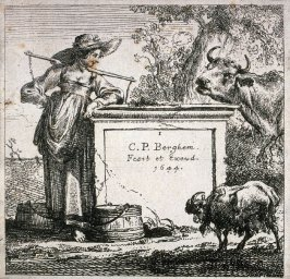 Title page, from The Set of the Cows with the Milkmaid
