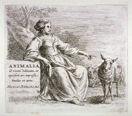 "Title page, from The Set of the Sheep, the so-called ""Woman's Book"" (Animalia ad vivum delineata, et aqua forti ceri impressa, Studio et arte Nicolai Berchemi)"