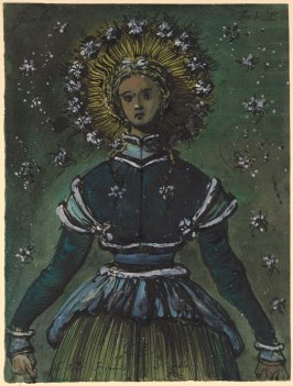 Giselle Act I: Costume Sketch for Giselle's Six Friends